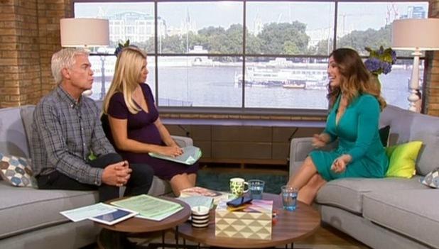 Kelly Brook appears on ITV's This Morning, ITV Studio, London