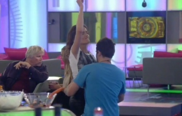 George Gilbey and Edele Lynch dirty dancing on Celebrity Big Brother, Channel 5 8 September