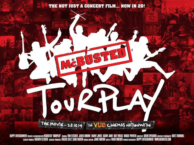 McBusted's Tourplay fim poster - 10 September 2014.