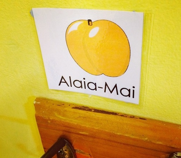 Rochelle Humes shares photo of Alaia-Mai Humes nursery peg 11 September