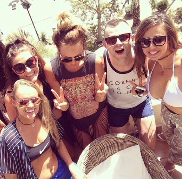 Holly Hagan in Ibiza, September 2014.