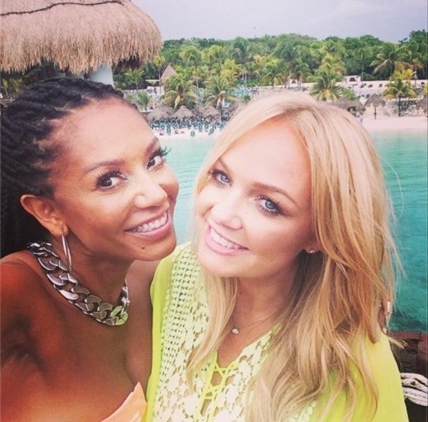 Mel B and Emma Bunton reunite in Mexico 9 September