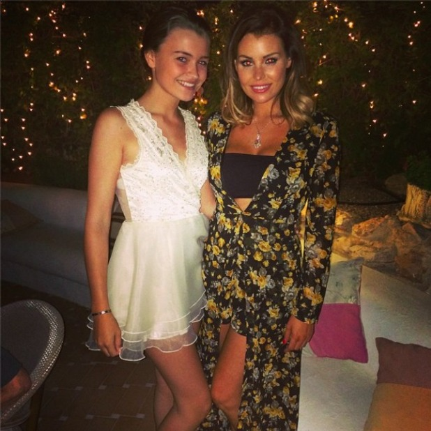 TOWIE's Jessica Wright stuns in floral outfit on holiday with sister in Spain, 13 September 2014