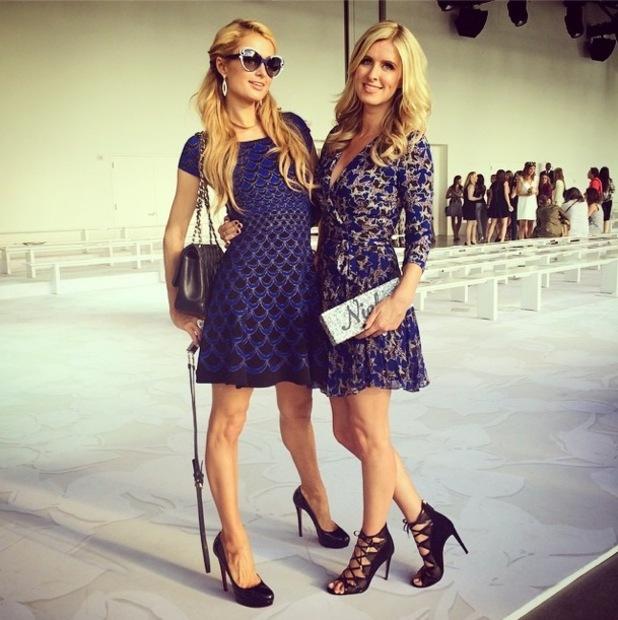 Paris Hilton and Nicky Hilton attend the Diane von Fürstenberg spring/summer '15 show at New York Fashion Week - America - 7 September 2014