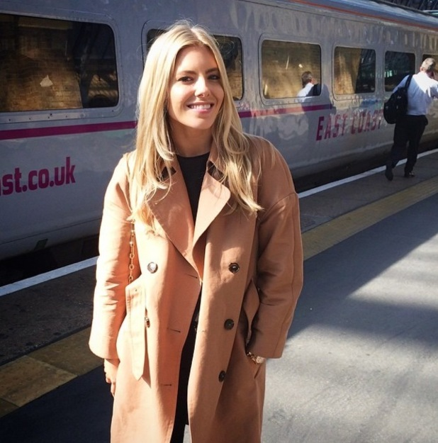 Mollie King travels up to Newcastle to join The Saturdays on tour, Instagram 8 September