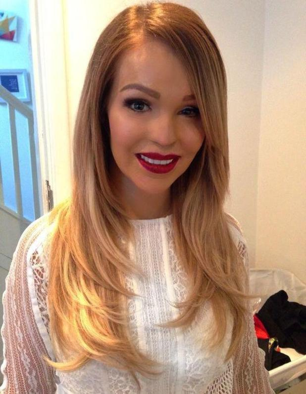 Katie Piper shows off longer hair ahead of TV Choice Awards, held at the London Hilton Park Lane - 8 September 2014