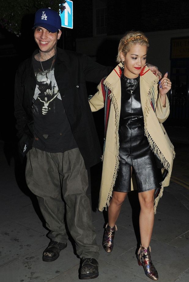 Celebrities at the Chiltern Firehouse, London, Britain - 11 Sep 2014 Ricky Hilfiger and Rita Ora leaving the Chiltern Firehouse.