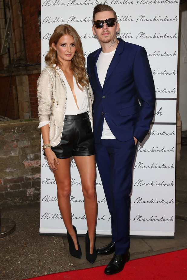 Millie Mackintosh and Professor Green attend the launch of Millie's clothing collection in Notting Hill, London - 10 September 2014