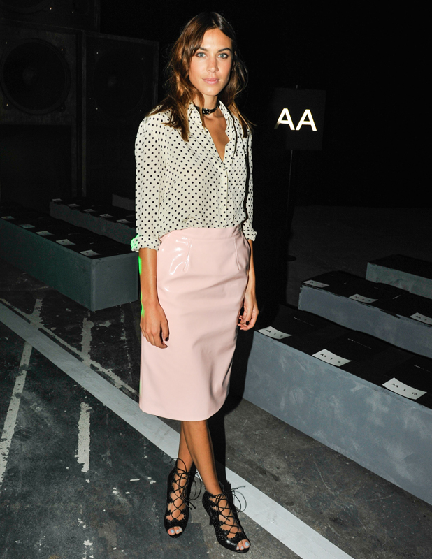 Alexa Chung at Marc By Marc Jacobs show, Spring Summer 2015, Mercedes-Benz Fashion Week, New York, America - 9 September 2014