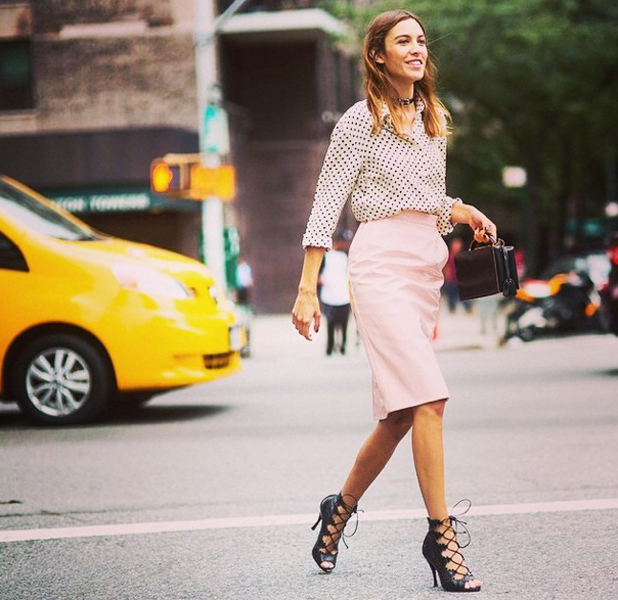 Alexa Chung in Instagram picture in New York on 9 September 2014