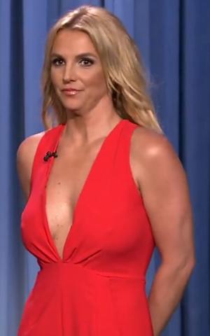 Britney Spears as seen on Jimmy Fallon's show, 9 September 2014