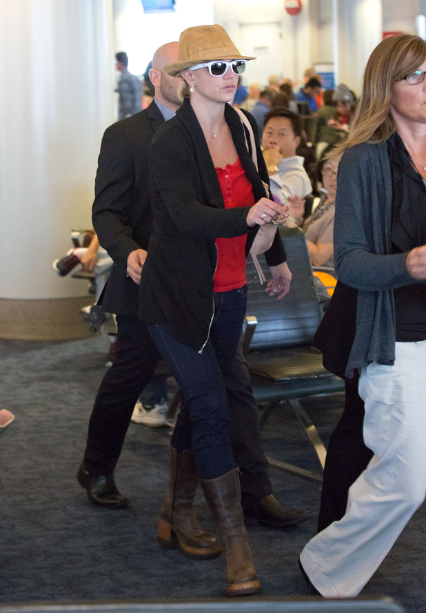 Britney Spears seen at LAX on September 08, 2014 in Los Angeles, California. (Photo by GVK/Bauer-Griffin/GC Images)