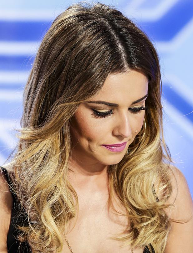 Cheryl Fernandez-Versini tears up as Monica Michael performs on X Factor, 7 September 2014