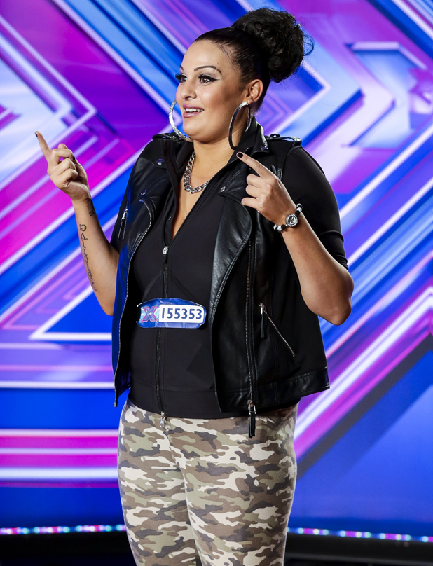 Monica Michael performs on X Factor, 7 September 2014