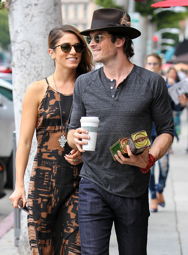 Nikki Reed and Ian Somerhalder go out for coffee in Beverly Hills, 8 September 2014