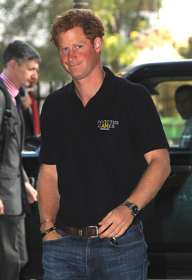 Prince Harry arrives for Invictus Games meeting, 8 September 2014