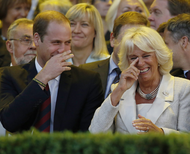 Prince William, Duke of Cambridge, Camilla, Duchess of Cornwall, Prince Charles, Prince of Wales and Prince Harry attend the Opening Ceremony of the Invictus Games at the Queen Elizabeth Olympic Park on September 10, 2014 in London, England.