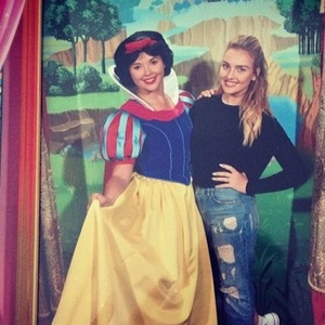 Perrie Edwards and Snow White in Disney 15 September
