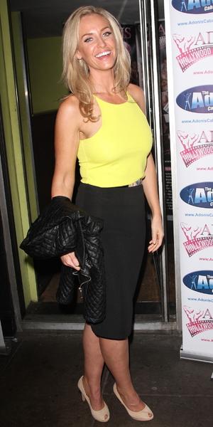 Josie Gibson attends 'Adonis Hollywood Strip' tour, London 17 September