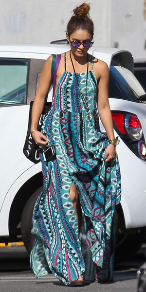 Vanessa Hudgens leaving Urban Outfitters store in Studio Cit