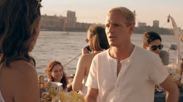 Made In Chelsea: New York - Jamie Laing upset after confronting Proudlock and Lucy. 14 September 2014.