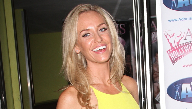 Josie Gibson attends 'Adonis Hollywood Strip' tour, London 17 September