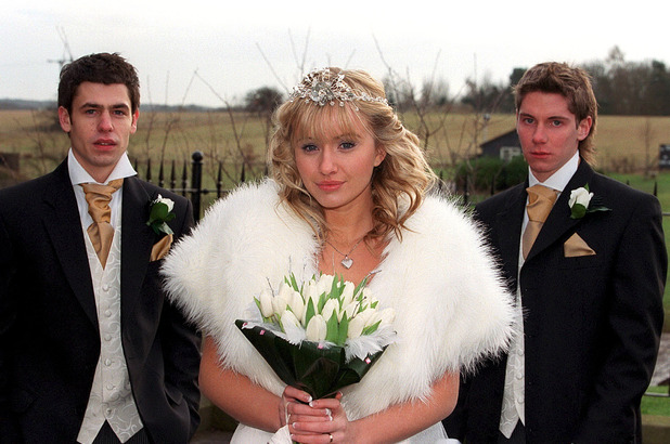 ITV ARCHIVE - Emmerdale' TV - 2004 - Kelvin Fletcher, Sammy Winward and Karl Davies - The Wedding of Andy and Katie.