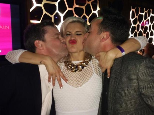 Ashley Roberts gets birthday kiss from Ant and Dec - 13 September.