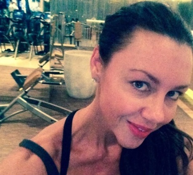 Michelle Heaton bets jet lag with early morning workout, Las Vegas 17 September