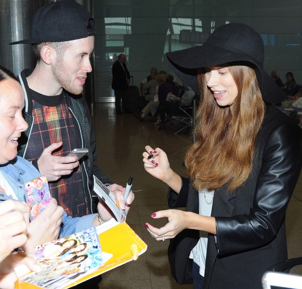 Una Foden arrives into Dublin airport with The Saturdays, Dublin, Ireland 17 September