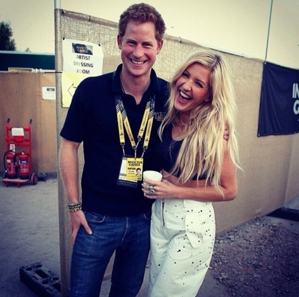Ellie Goulding and Prince Harry backstage at the Invictus Games, Olympic Park, London 14 September