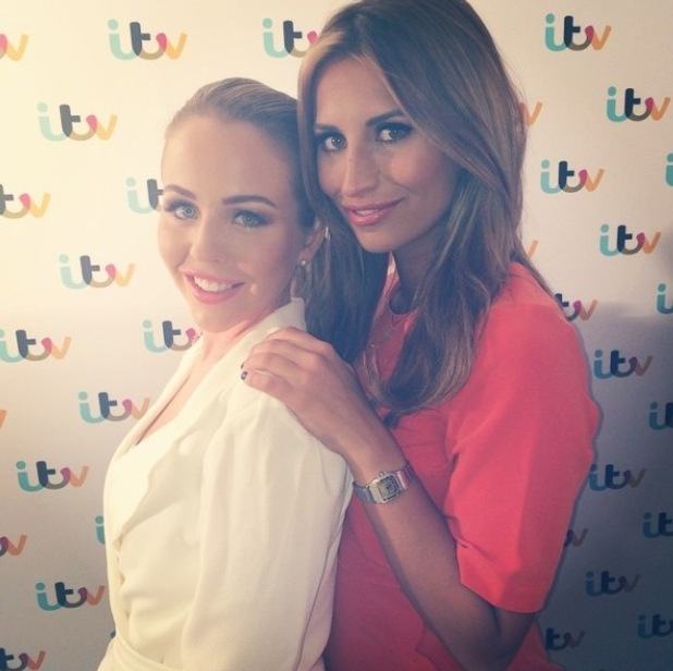TOWIE's Ferne McCann and Lydia Bright at ITV Upfronts party - 18 September.