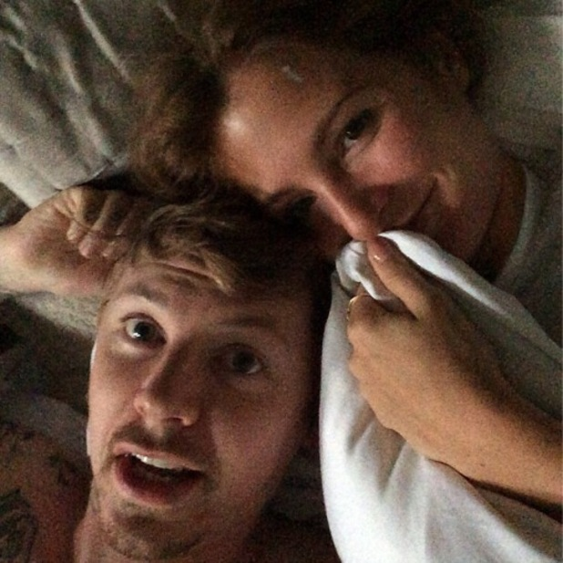 Millie Mackintosh and Professor Green take early morning selfie in bed 17 September