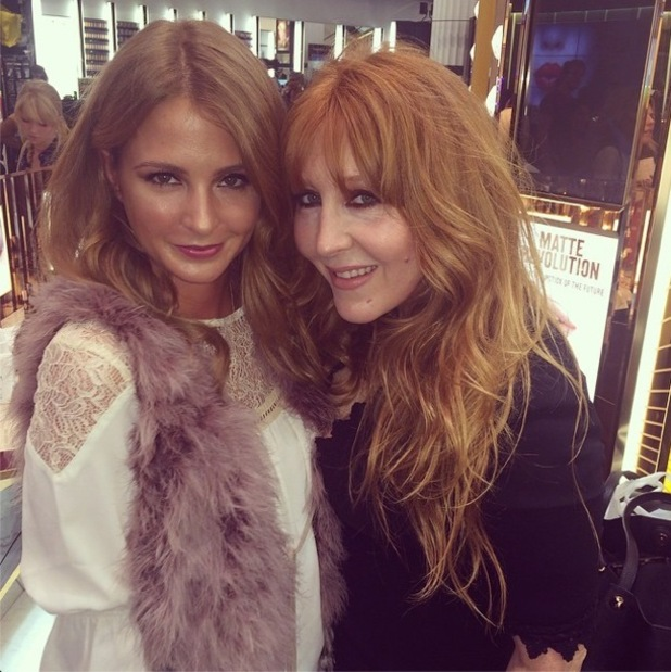 Millie Mackintosh celebrates the one year anniversary of Charlotte Tilbury's make-up line in Selfridges, London - 18 September 2014