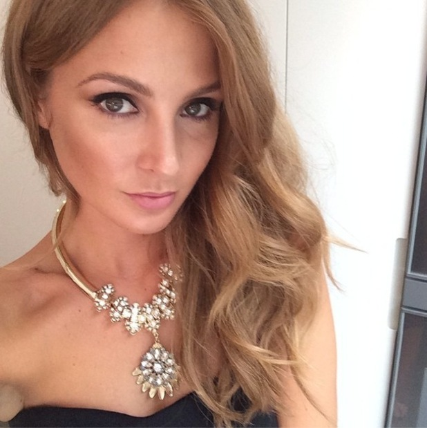 Millie Mackintosh takes a selfie before the Cosmopolitan FashFest, held in Battersea, London, 18 September 2014