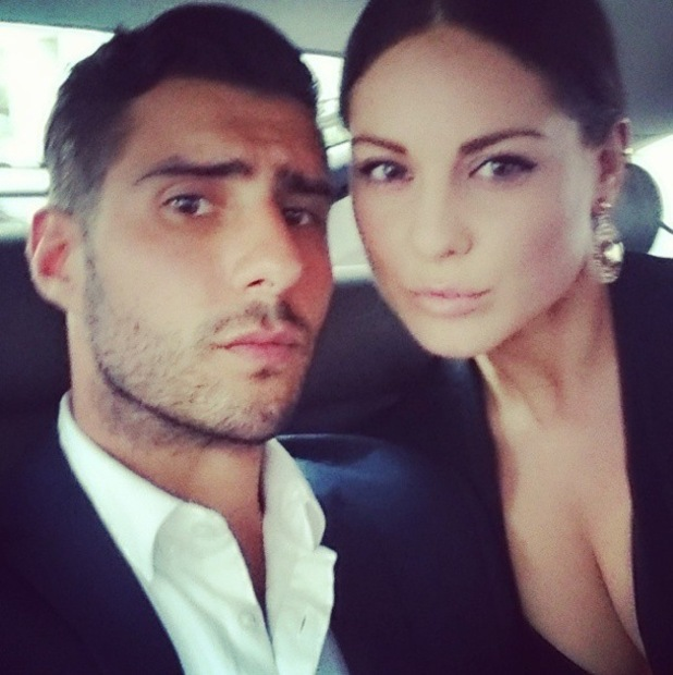 Made In Chelsea's Louise Thompson and Alik Alfus make their way to the Downton Abbey charity preview screening in London - 17 September 2014