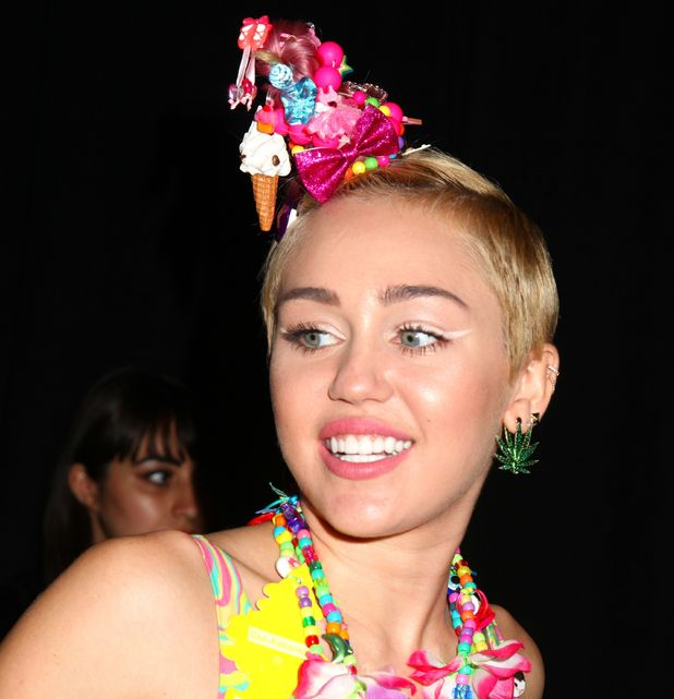 Miley Cyrus, Jeremy Scott show, Spring Summer 2015, Mercedes-Benz Fashion Week, New York, America - 10 Sep 2014