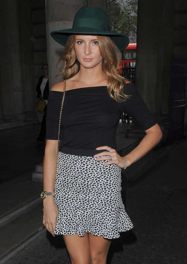 Millie Mackintosh steps out at London Fashion Week - London, England - 16 September 2014