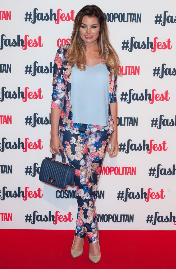 TOWIE's Jessica Wright attends the Cosmopolitan FashFest held in Battersea, London - 18 September 2014