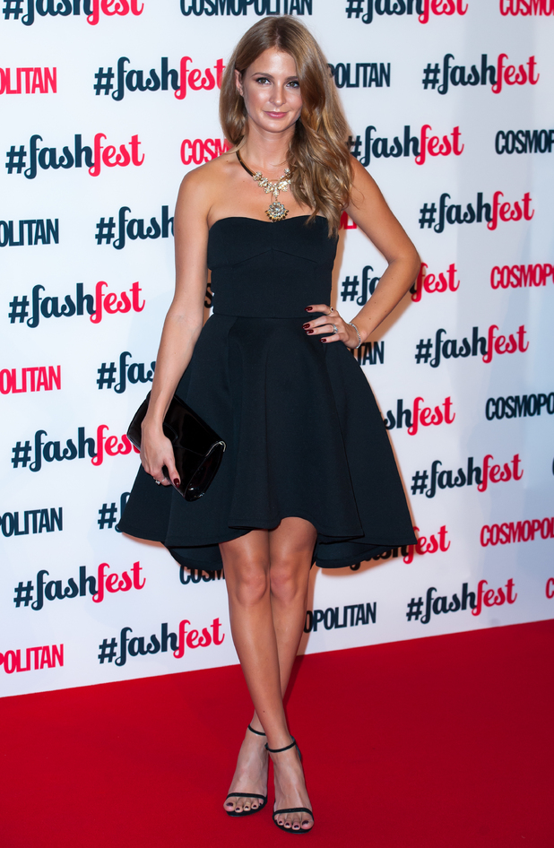 Millie Mackintosh attends the Cosmopolitan FashFest, held in Battersea, London, 18 September 2014