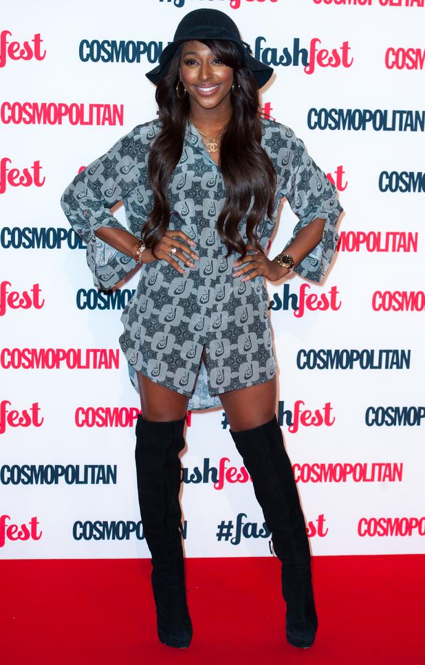 Alexandra Burke attends the Cosmopolitan FashFest in Battersea, London - 18 September 2014