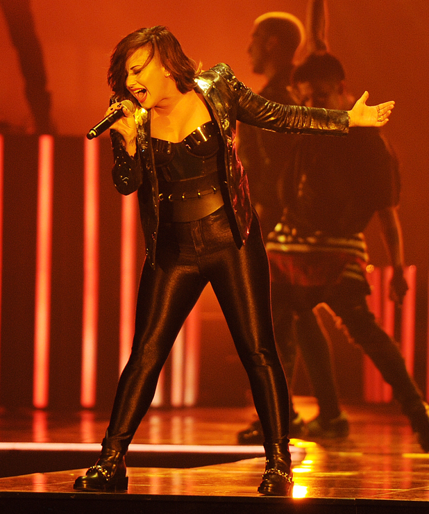 Demi Lovato performs at American Airlines Arena as part of her Demi Lovato World Tour 2014, 14 September 2014