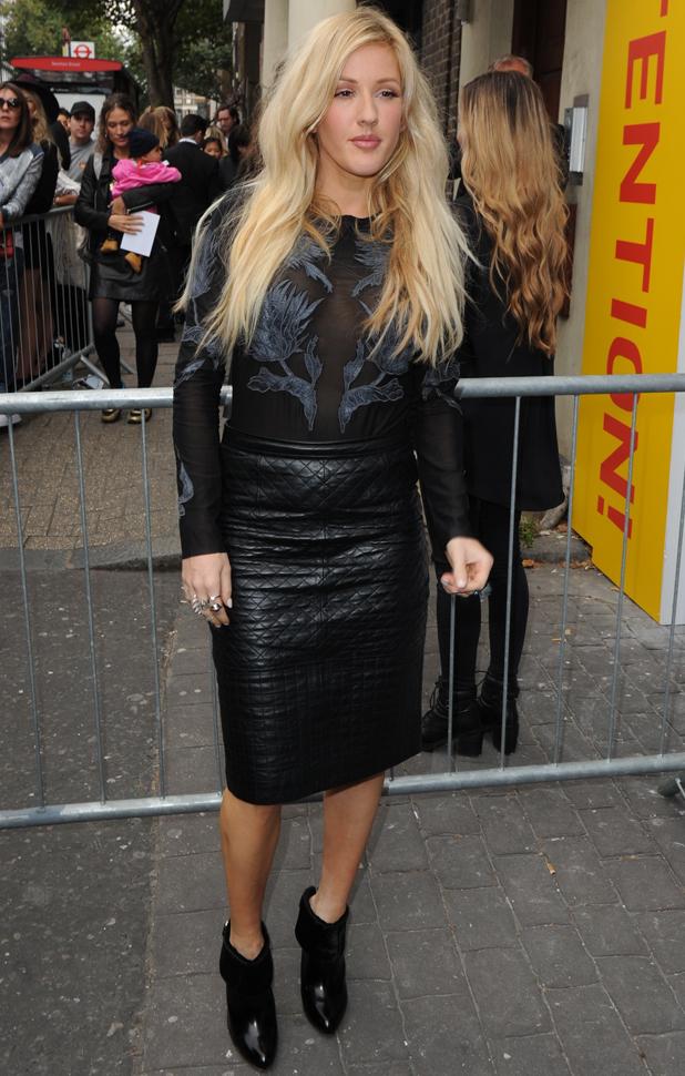 Ellie Goulding, London Fashion Week Spring/Summer 2015 - Topshop Unique - Outside Arrivals, 14 September 2014