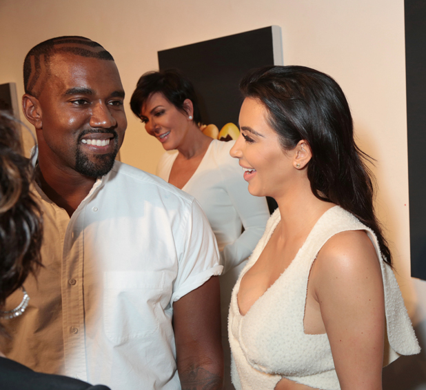 Kanye West and Kim Kardashian, William Turner Gallery hosts an opening night celebration honoring 'Carole Bayer Sager New Works' in Santa Monica, Los Angeles, America - 18 Sep 2014