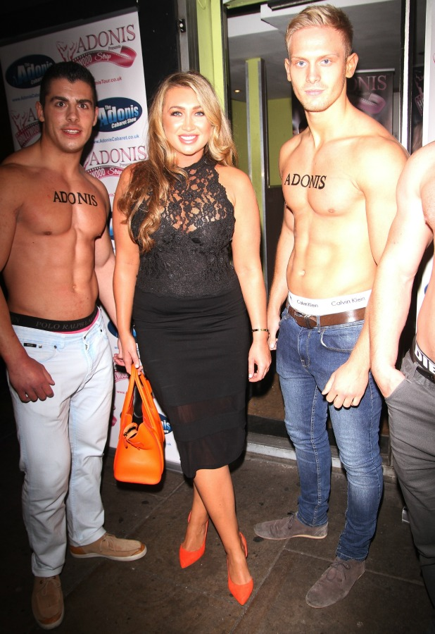 Lauren Goodger at Adonis Hollywood Strip Tour party, London, 17 September 2014