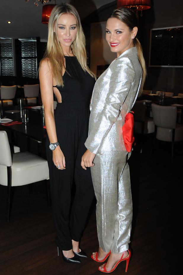 Sam Faiers and Lauren Pope at Emeli Sande's Serenge charity night, Mitcham, Surrey, 18 September 2014