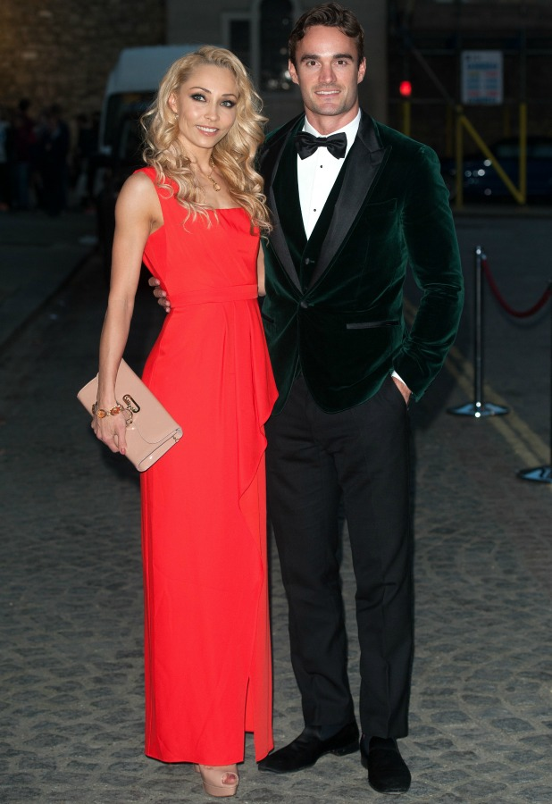 Strictly Come Dancing's Iveta Lukosiute, Thom Evans at Dot Com Children's Foundation Strictly Ballroom - charity dinner held at Mansion House, 16 September 2014