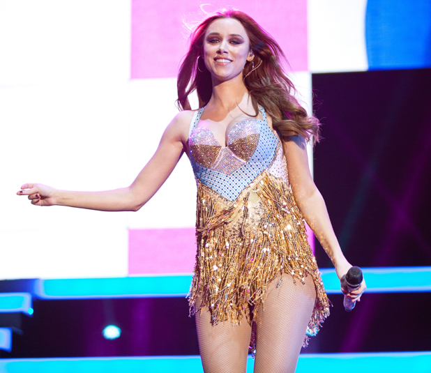 Una Foden of The Saturdays in concert, Cardiff Motorpoint Arena, Wales, Britain - 18 Sep 2014