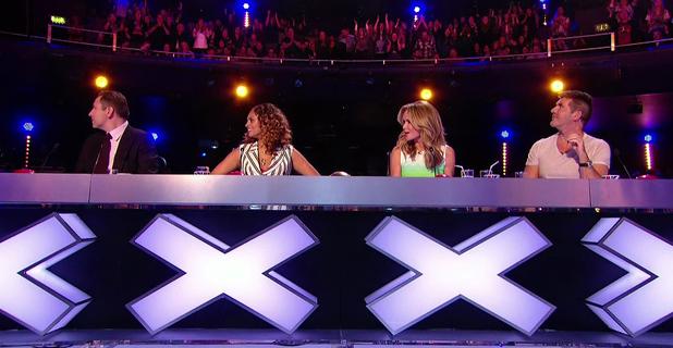 Amanda Holden, Alesha Dixon, Simon Cowell, David Walliams, Britain's Got Talent, ITV December 2012