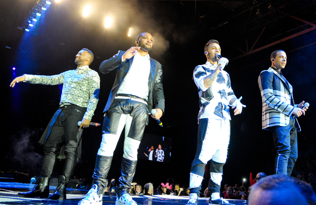 JLS performing live on stage at the LG Arena as part of their 'JLS Goodbye - The Greatest Hits Tour' - 12/11/2013